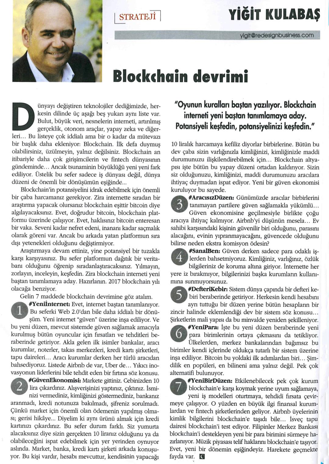 Yiğit Kulabaş: Blockchain Devrimi