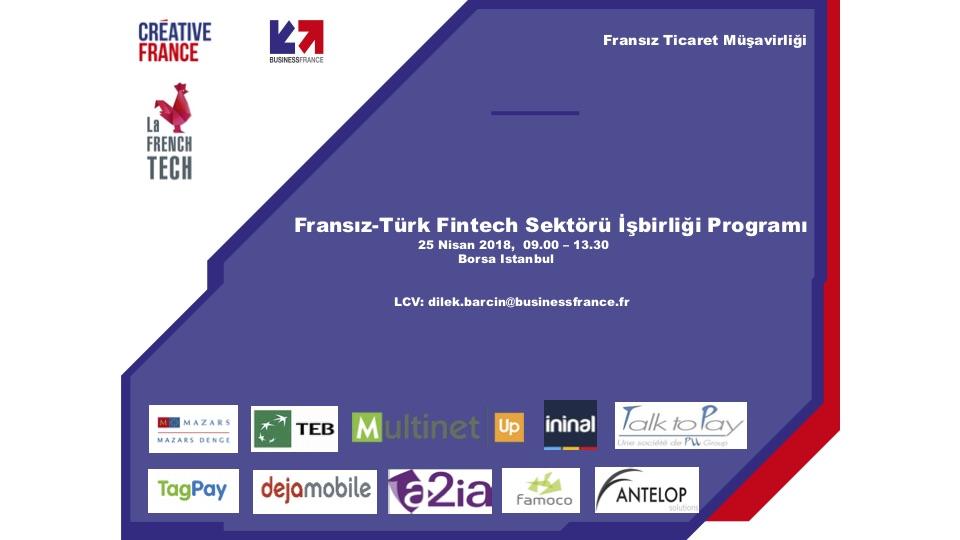 Türk-Fransız FinTech sektörü iş birliği programı