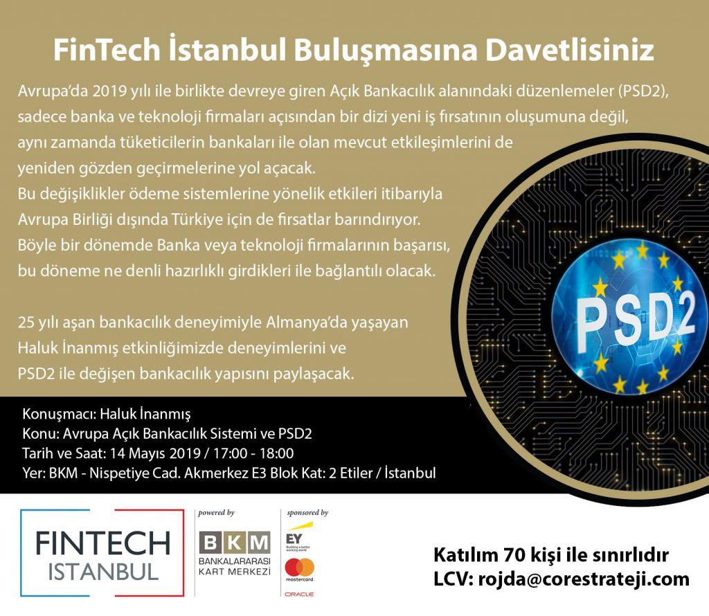 """Etkinlik Daveti: """"Avrupa Açık Bankacılık Sistemi ve PSD2"""""""