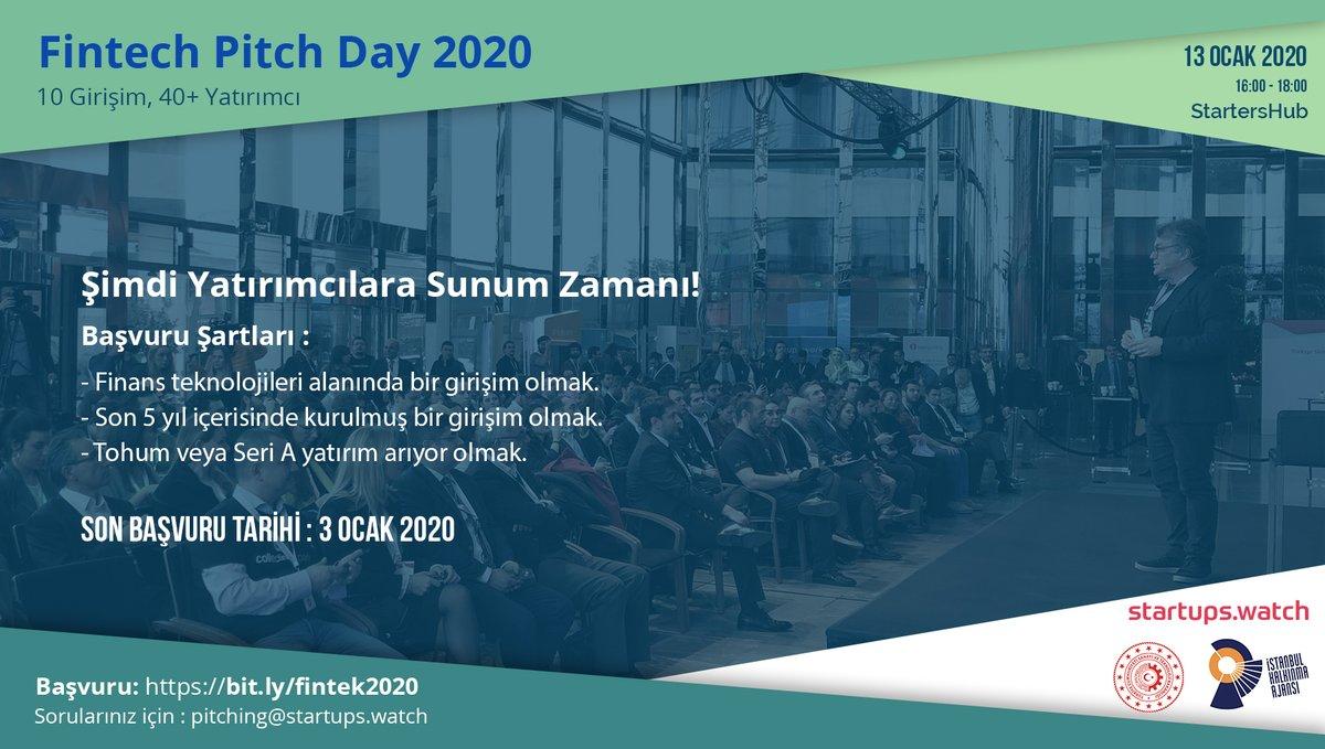 FinTech Pitch Day 2020 için başvurular açıldı
