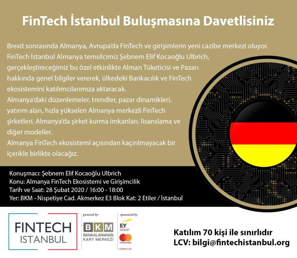 """Etkinlik Daveti: """"Almanya FinTech Ekosistemi ve Girişimcilik"""""""