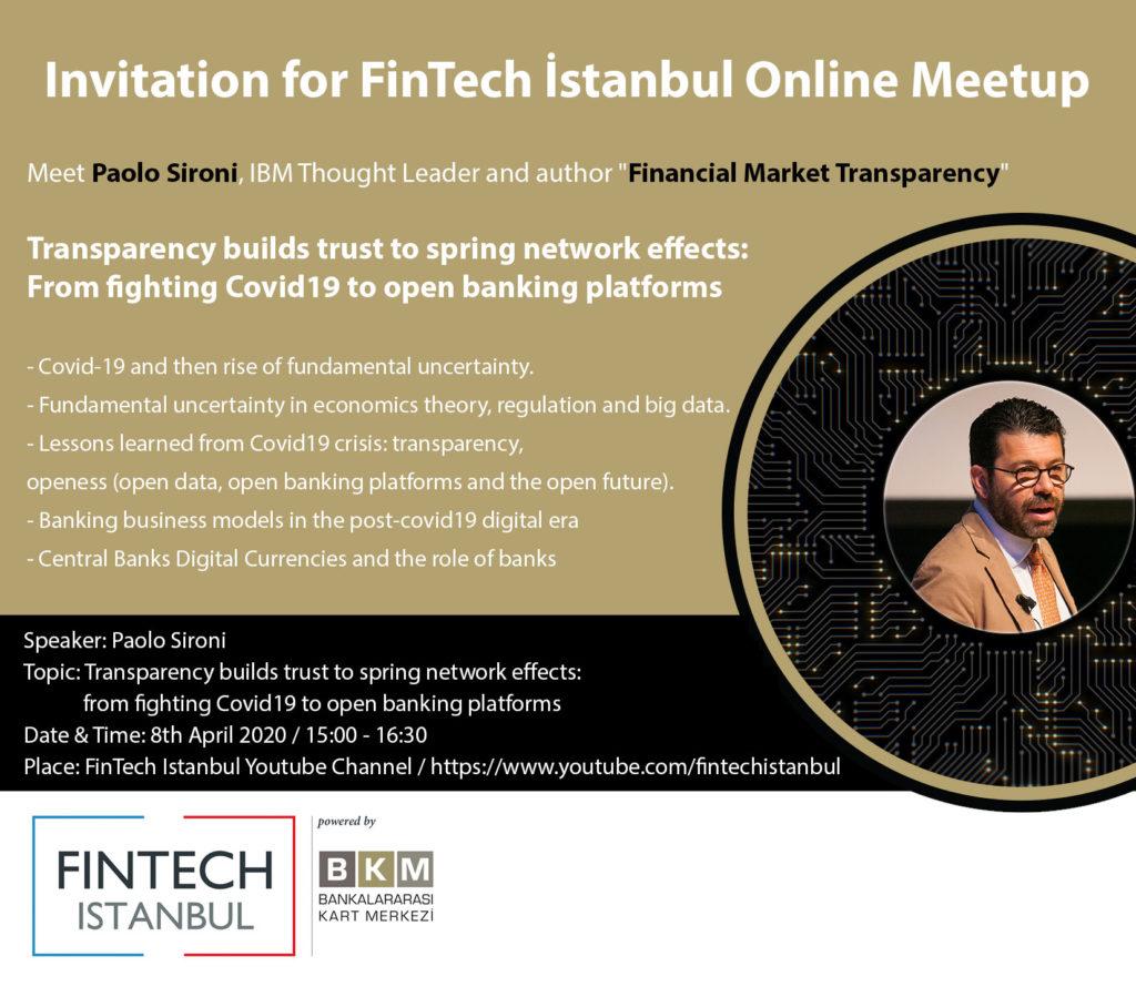 Küresel FinTech fikir liderlerinden Paolo Sironi ile buluşuyoruz
