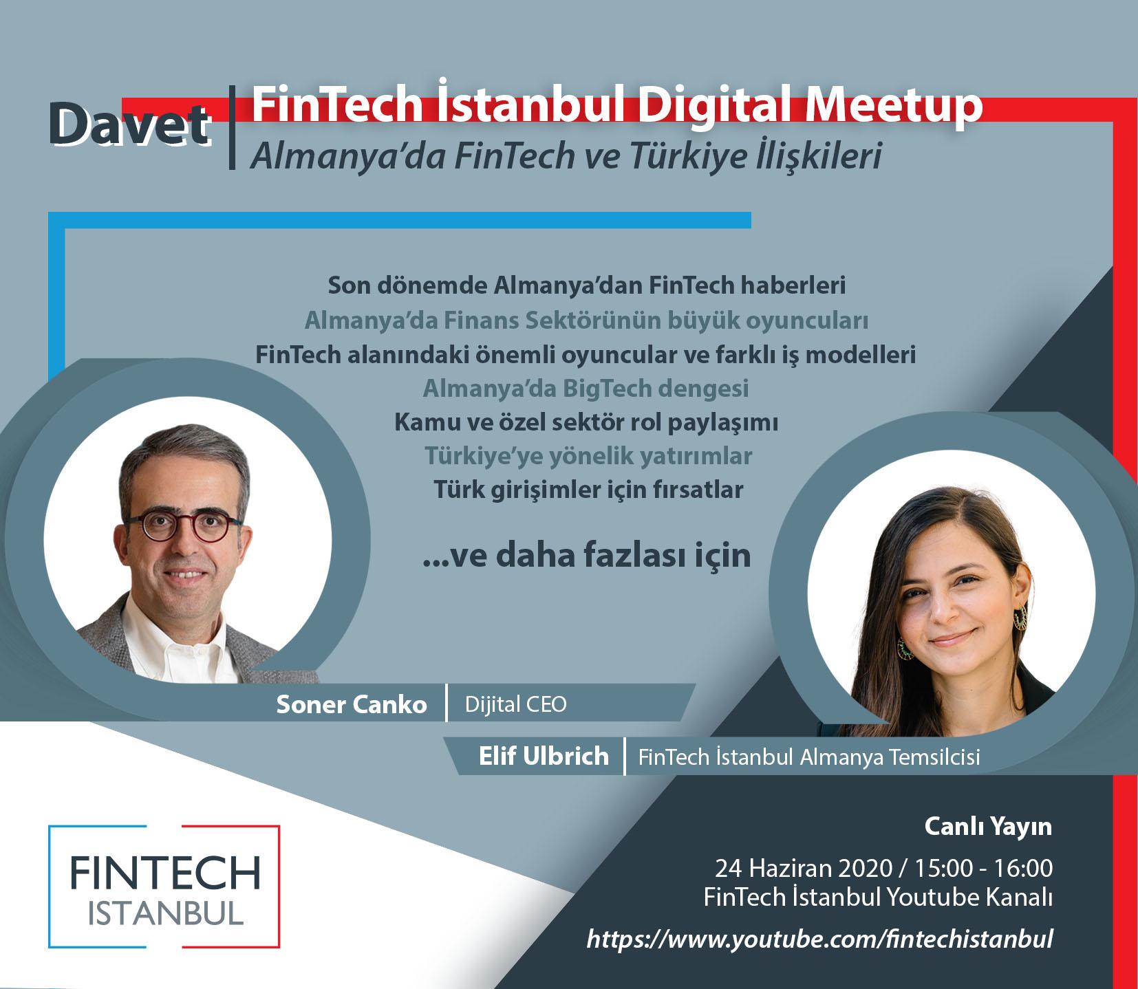 Davet: FinTech İstanbul Digital Meetup - S01E12 - Almanya'da FinTech ve Türkiye İlişkileri