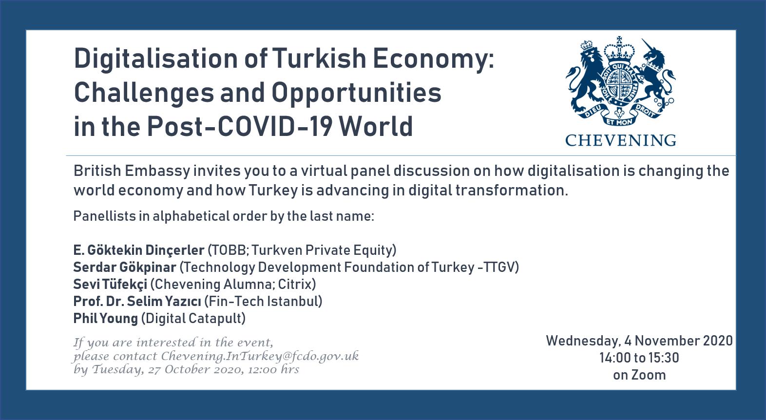Türkiye Ekonomisinin Dijitalleşmesi: COVID-19 Sonrası Dünyadaki Zorluklar ve Fırsatlar